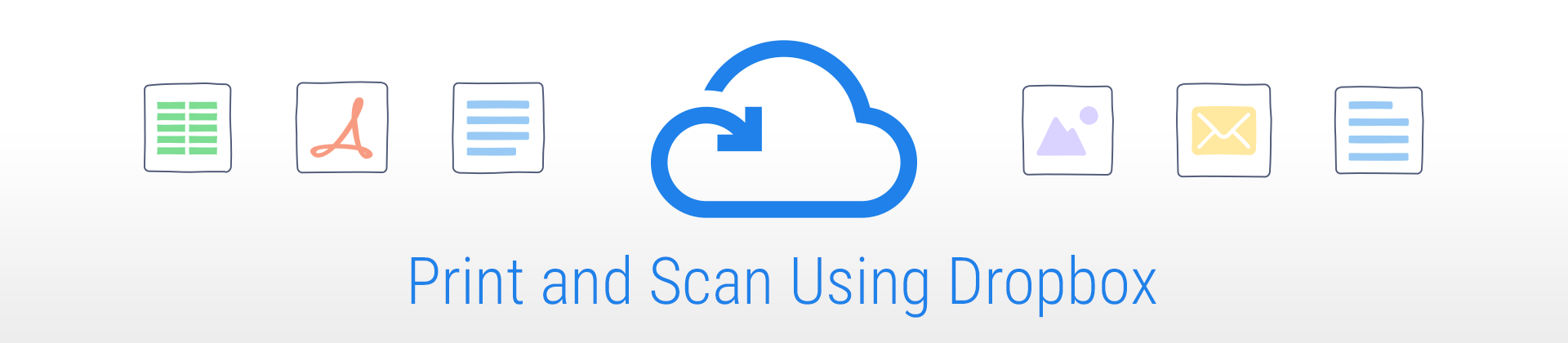 print and scan using dropbox